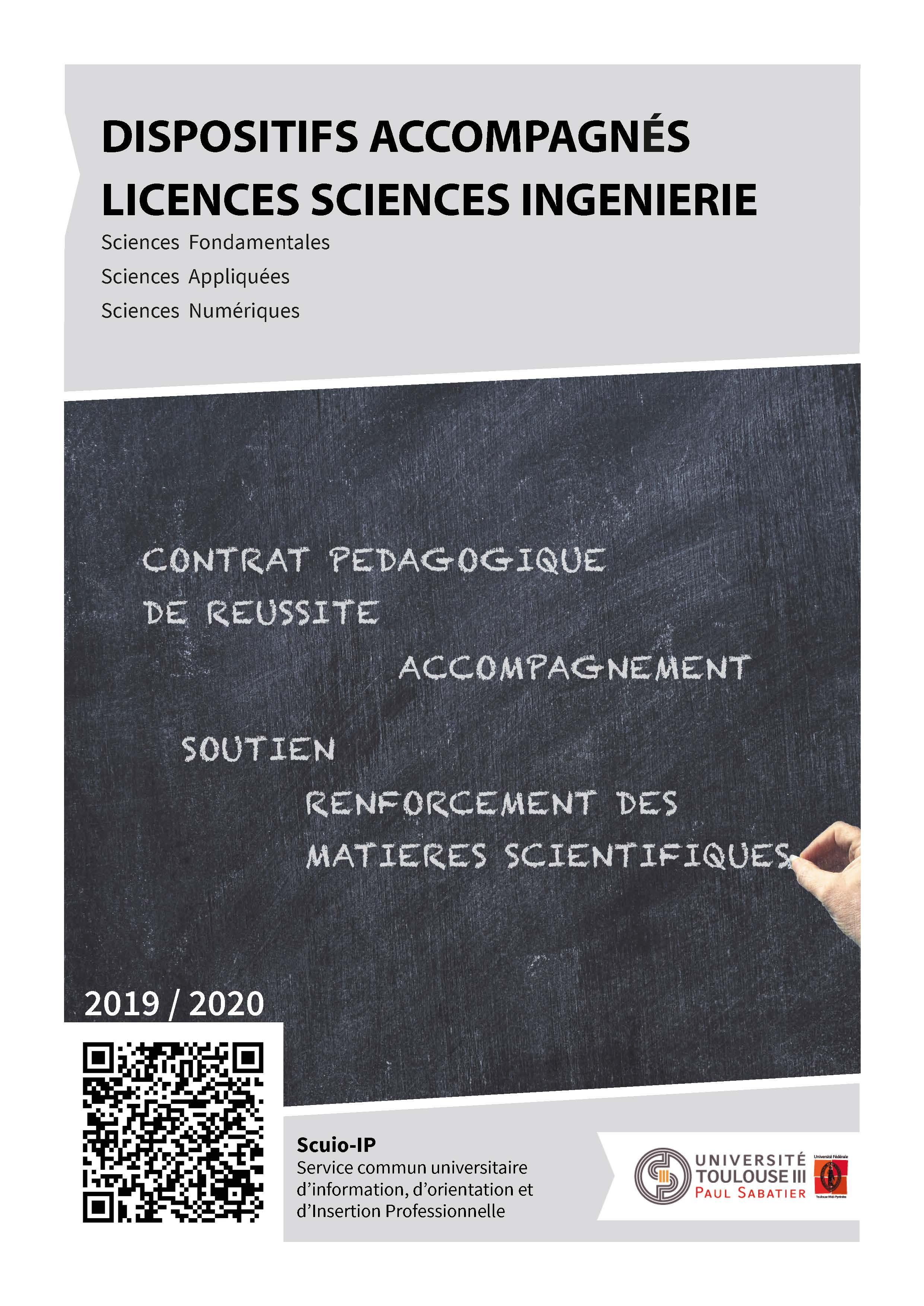 Dispositifs d'accompagnement en  licences - Fiche