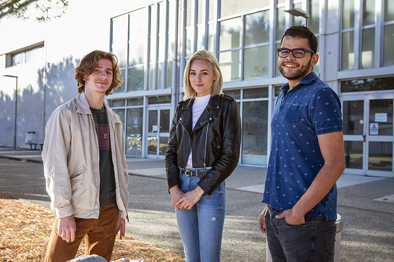Etudiants sur le campus