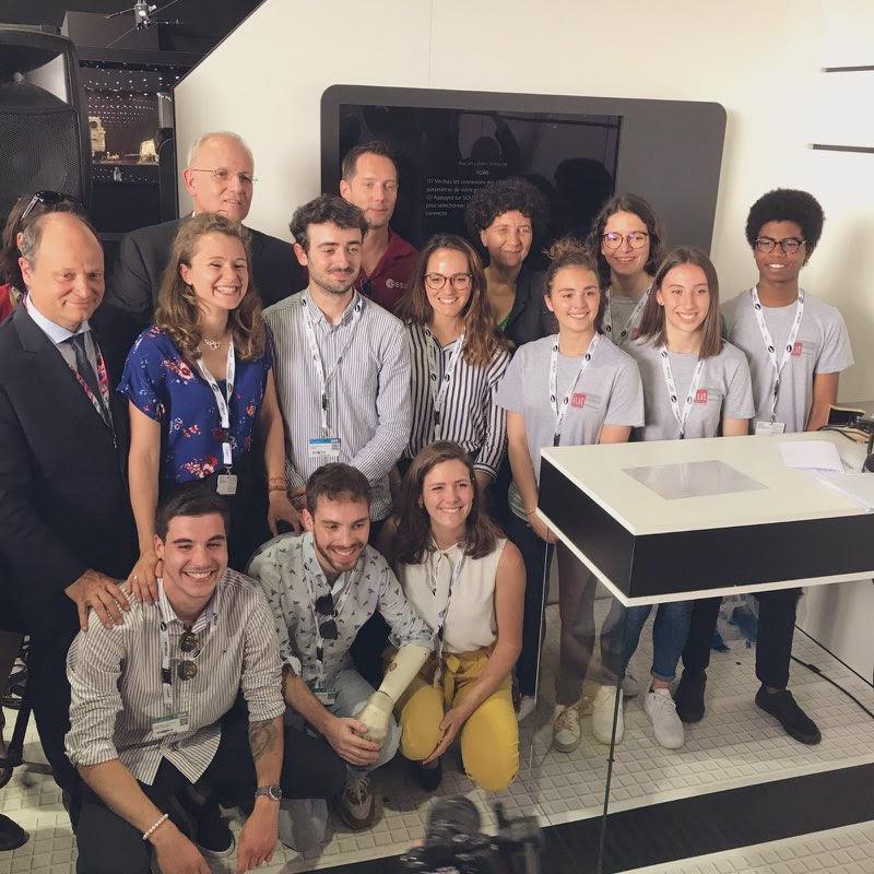 Quelques étudiantes et étudiants UT3, lauréats du concours Génération ISS